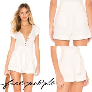 NWT Free People Everywhere You Go Short Ivory